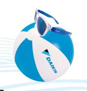 pelota y gafas Daikin